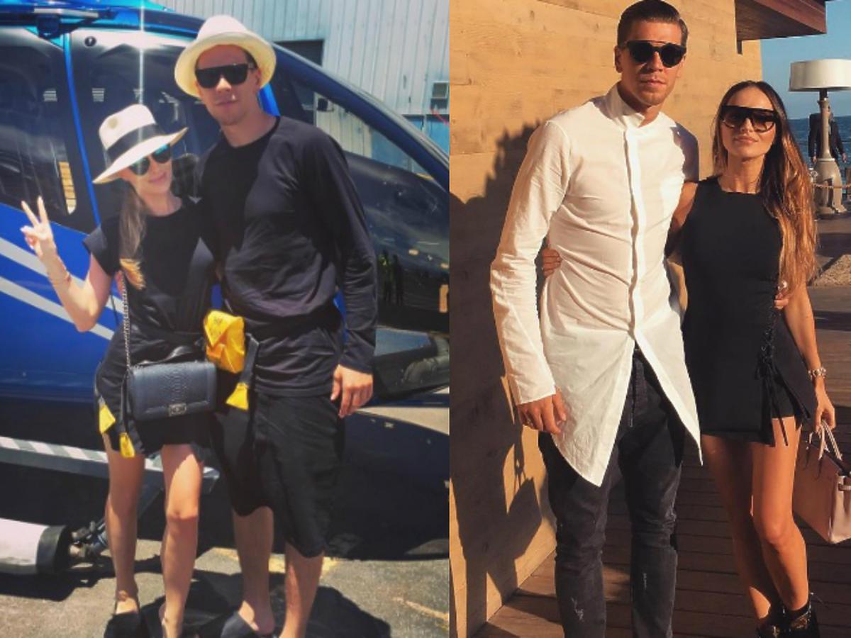 """Najpierw Szczęsny pokazał designerskie klapki, teraz koszulę! Fani źli na Marinę: """"Przestań stylizować biednego Wojtka"""""""