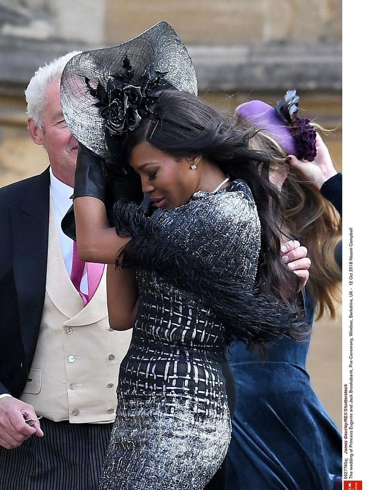 Naomi Campbell  na ślubie księżniczki Eugenii