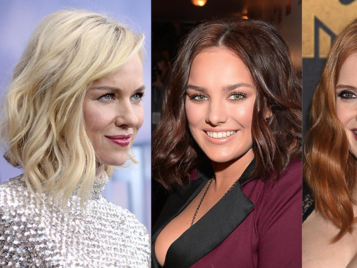Naomi Watts, Ewa Farna, Jessica Chastain we włosach ułożonych w fale