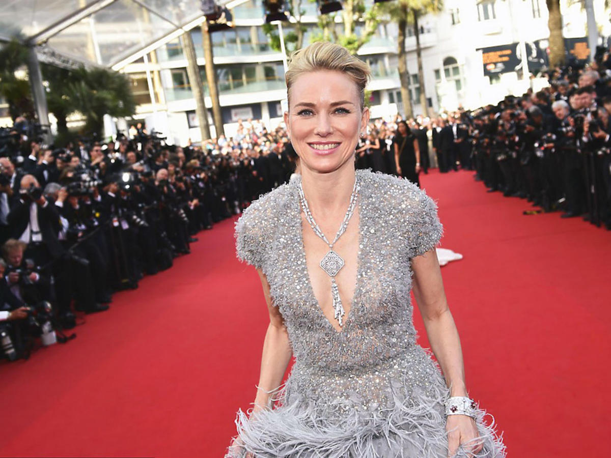 Naomi Watts w biżuterii marki Bulgari na Festiwalu Cannes,