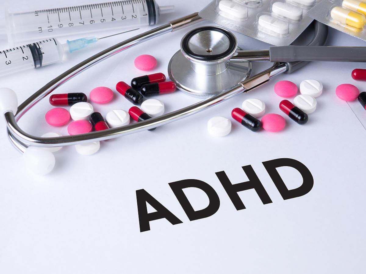 Napis ADHD i leki.