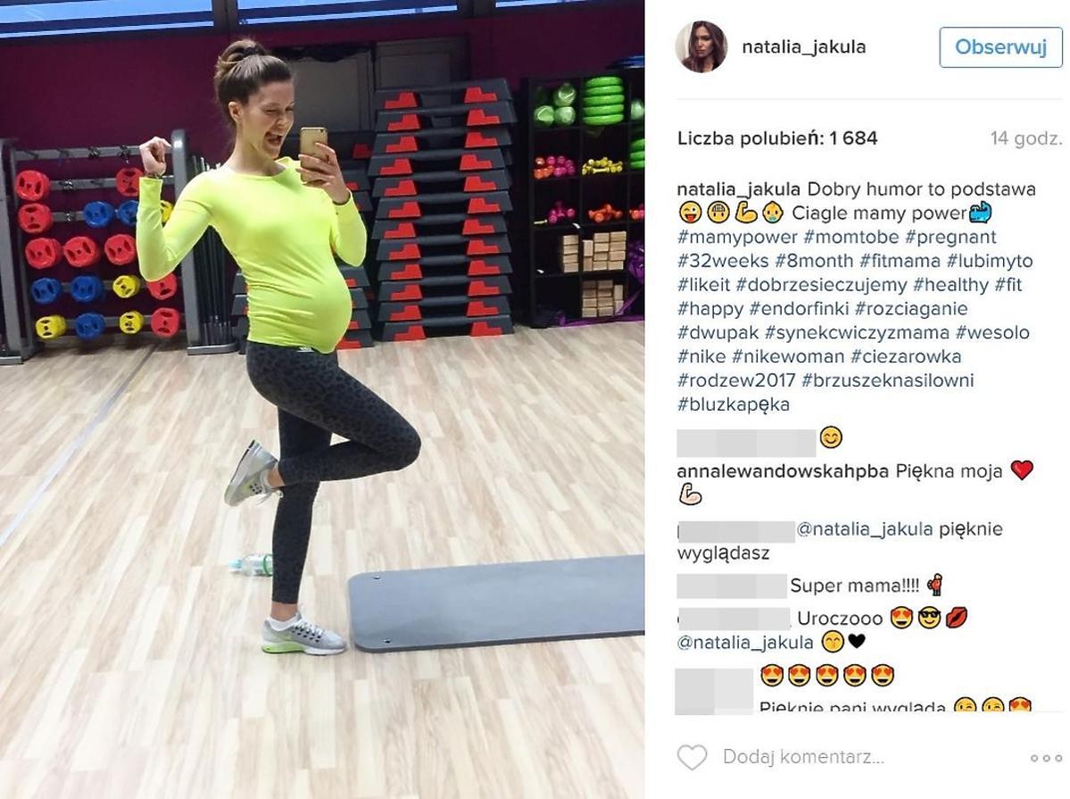 Natalia Jakuła ćwiczy w ciąży