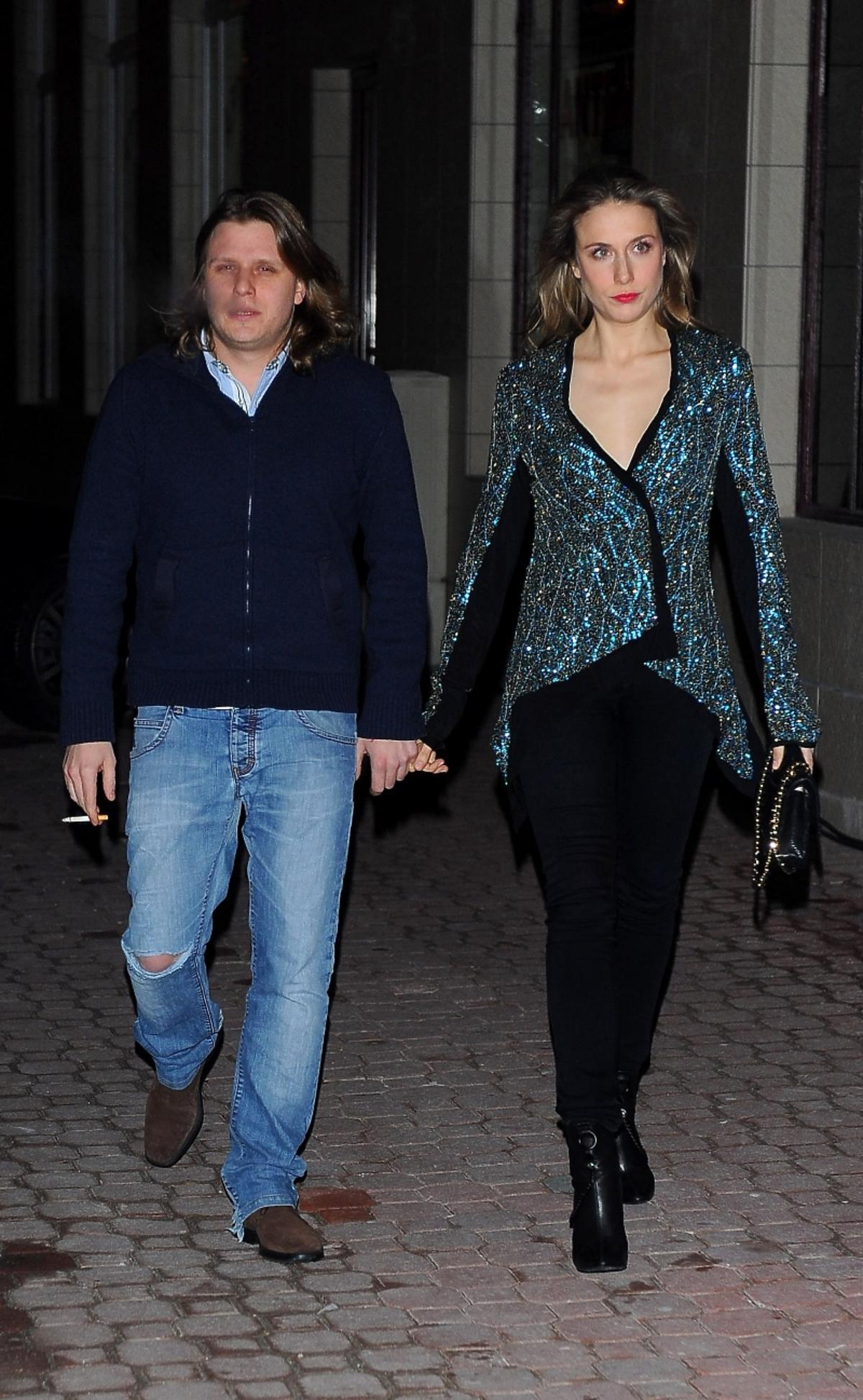 Natalia Klimas i Piotr Starak na otwarciu restauracji Borysa Szyca