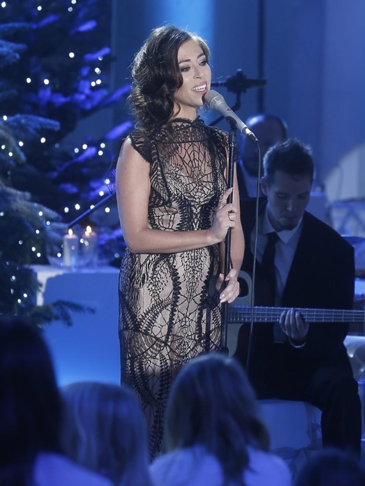 Natalia Kukulska podczas świątecznego koncertu w Pałacu Prezydenckim