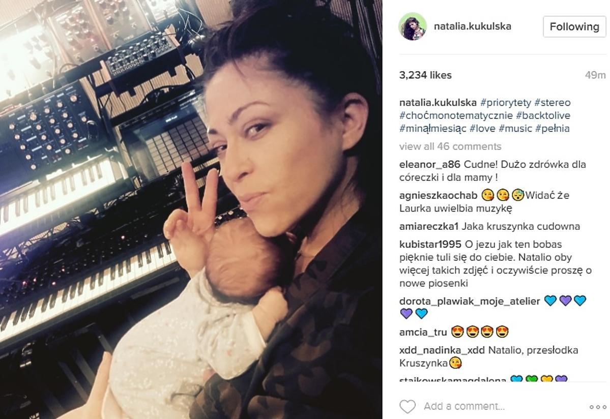 Natalia Kukulska pokazała Laurę. Skończyła właśnie miesiąc