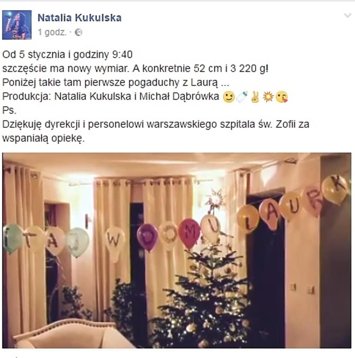 Natalia Kukulska urodziła córkę