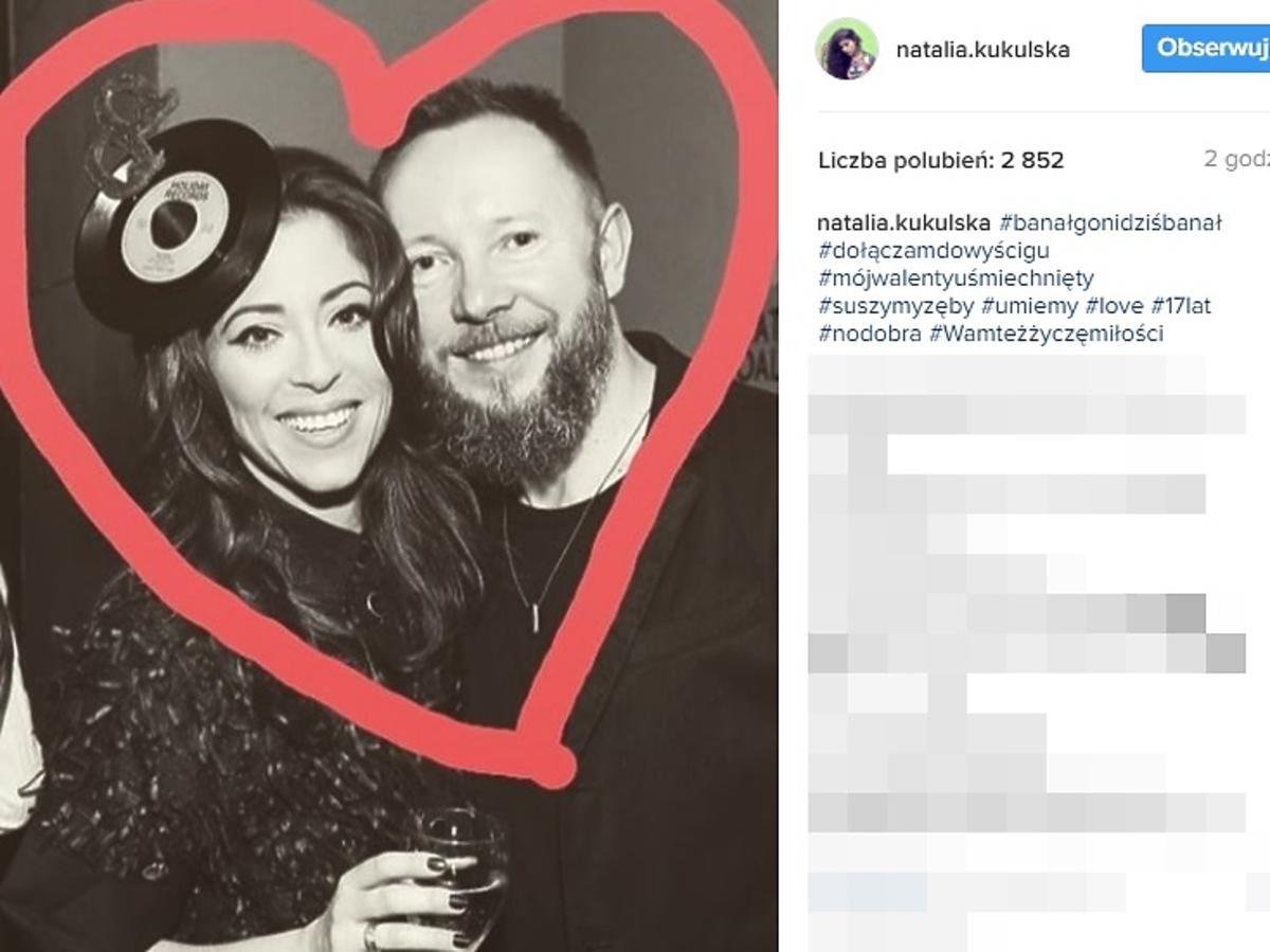 Natalia Kukulska z mężem świętują Walentynki