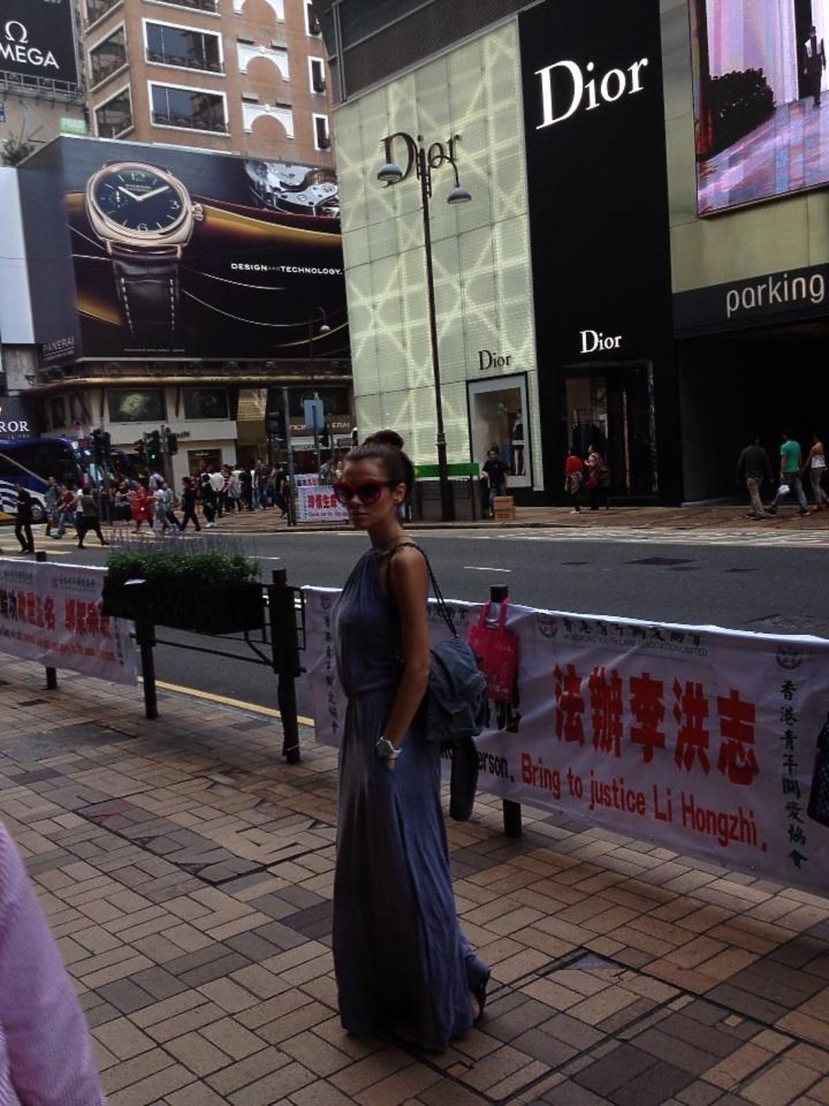 Natalia Siwiec w Hong Kongu