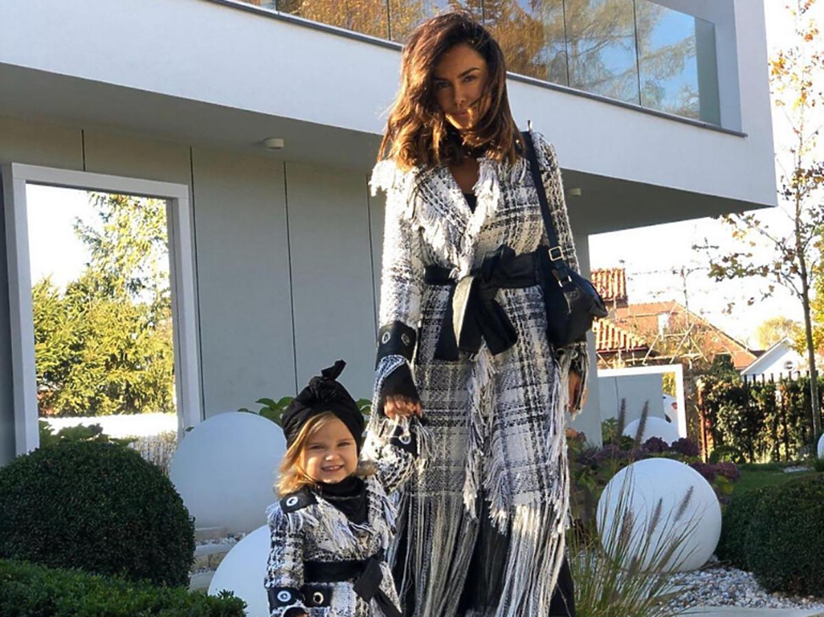 Natalia Siwiec w identycznym zestawie z córką