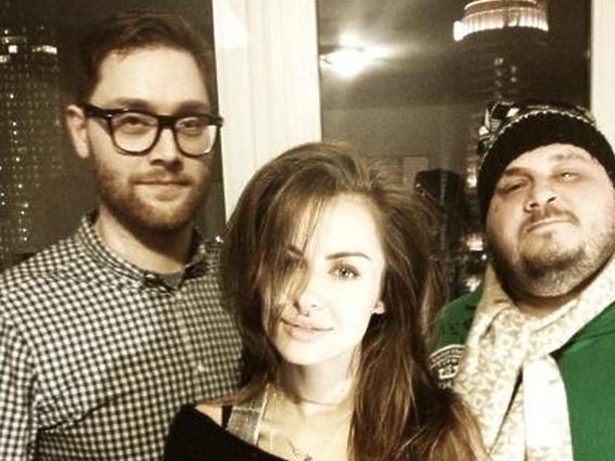 Natalia Siwiec w studiu nagrań z duetem Red & Spinache