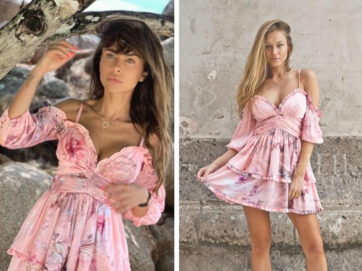 Natalia Siwiec w sukience mini w kwaity
