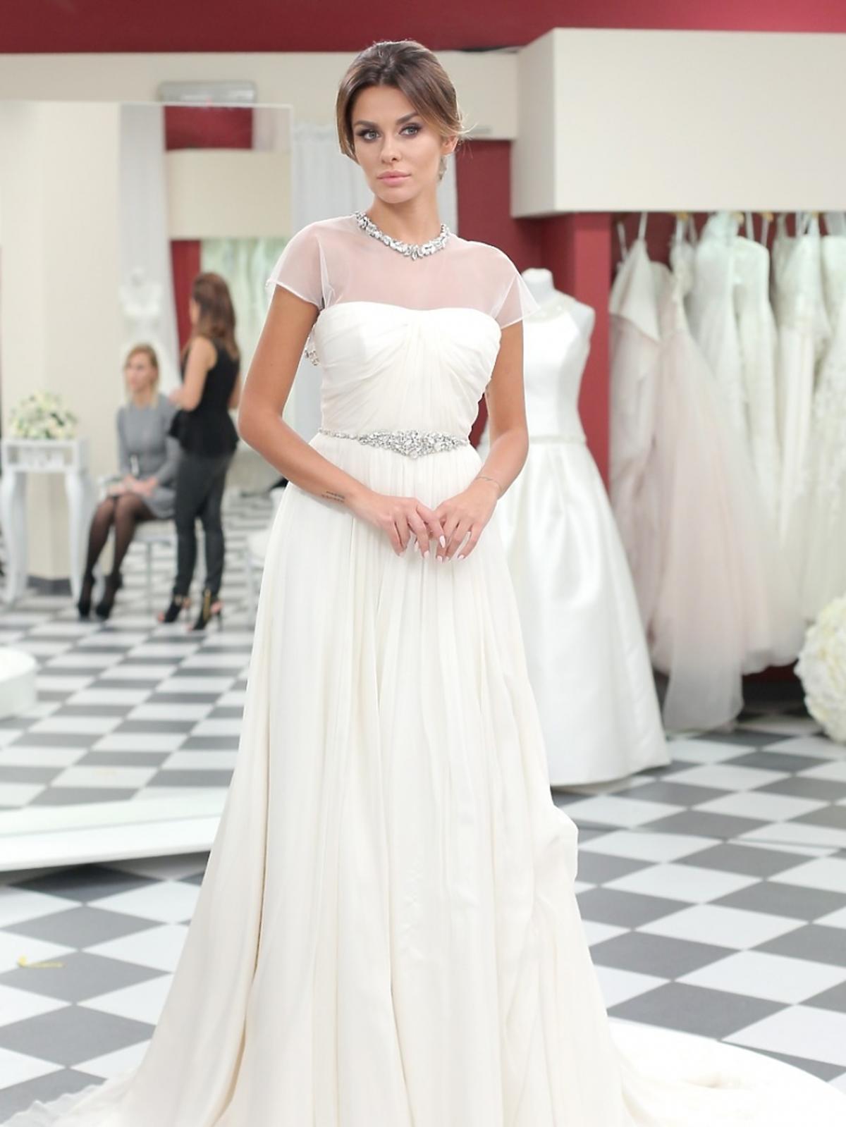 Natalia Siwiec w sukni ślubnej