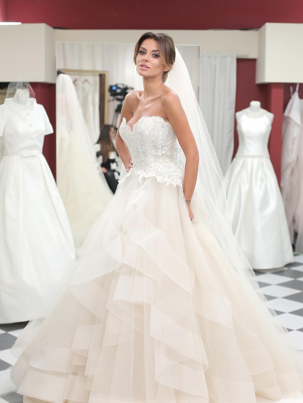 Natalia Siwiec w tiulowej sukni