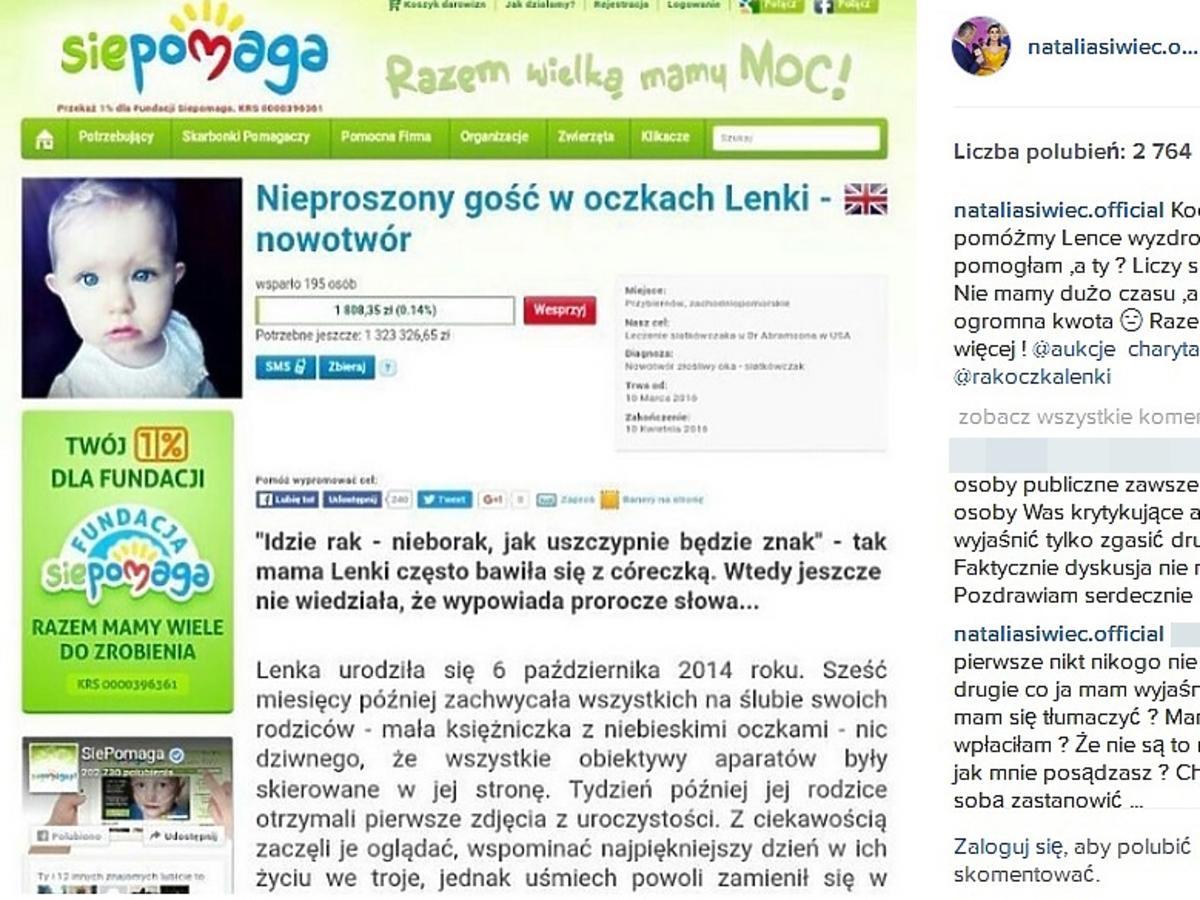 Natalia Siwiec wspiera akcję charytatywną