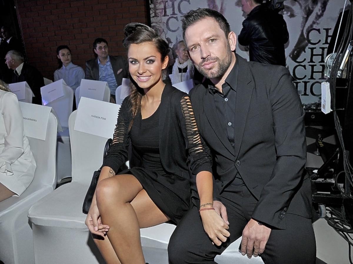 Natalia Siwiec z mężem na otwarciu Ptak Outlet