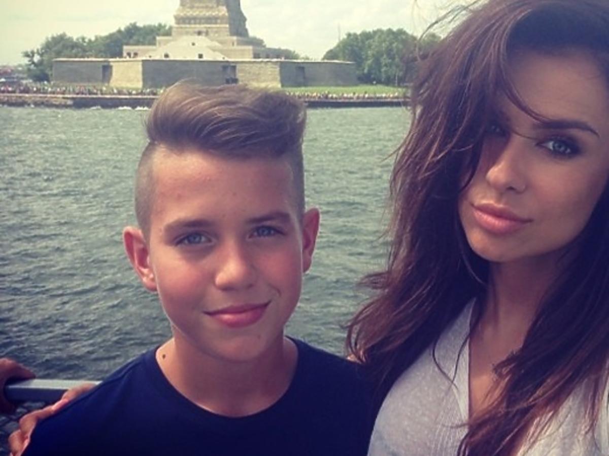 Natalia Siwiec z synem męża w Nowym Jorku