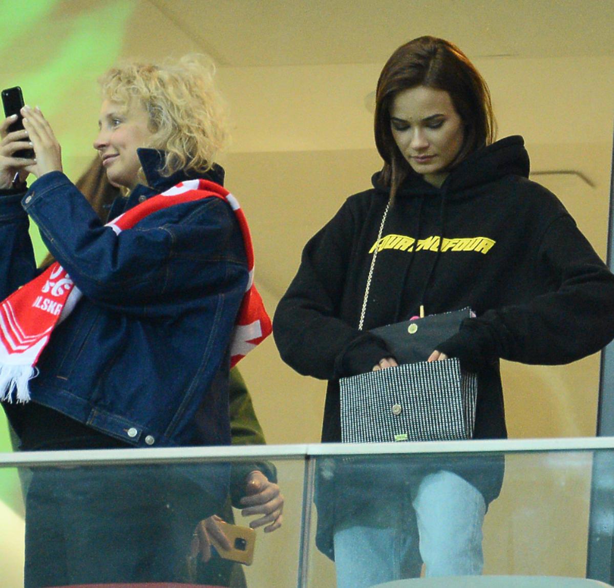Natalia Szroeder na meczu Polska-Łotwa