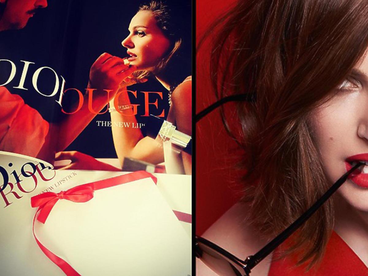 Natalie Portman z czerwonymi ustami