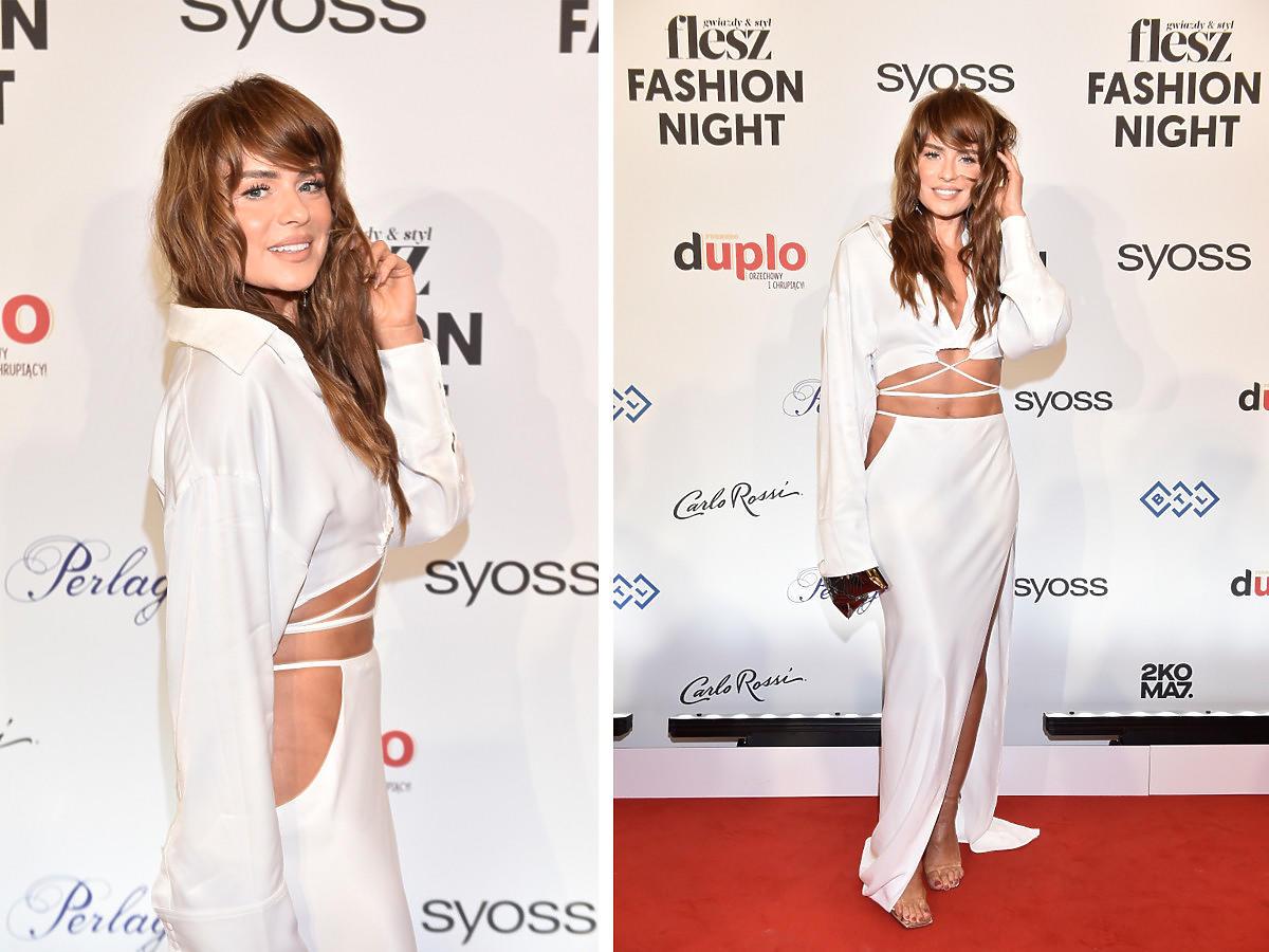 Natasza Urbańska w białym total look na Flesz Fashion Night