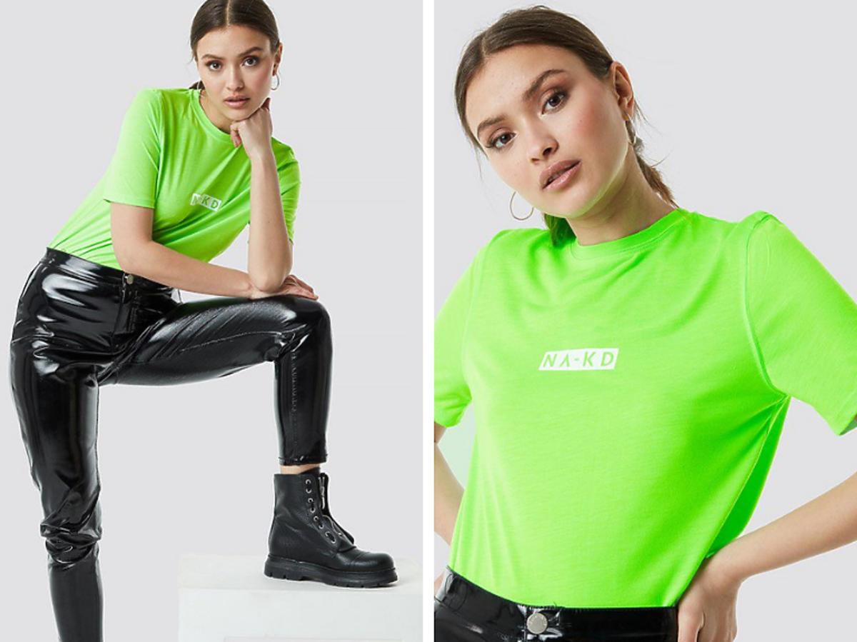 Neonowa bluzka NA-KD