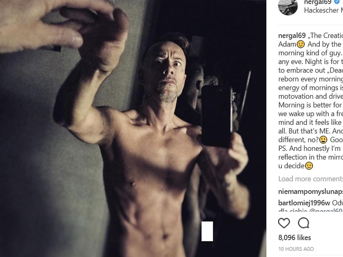Nergal pokazał penisa na Instagramie