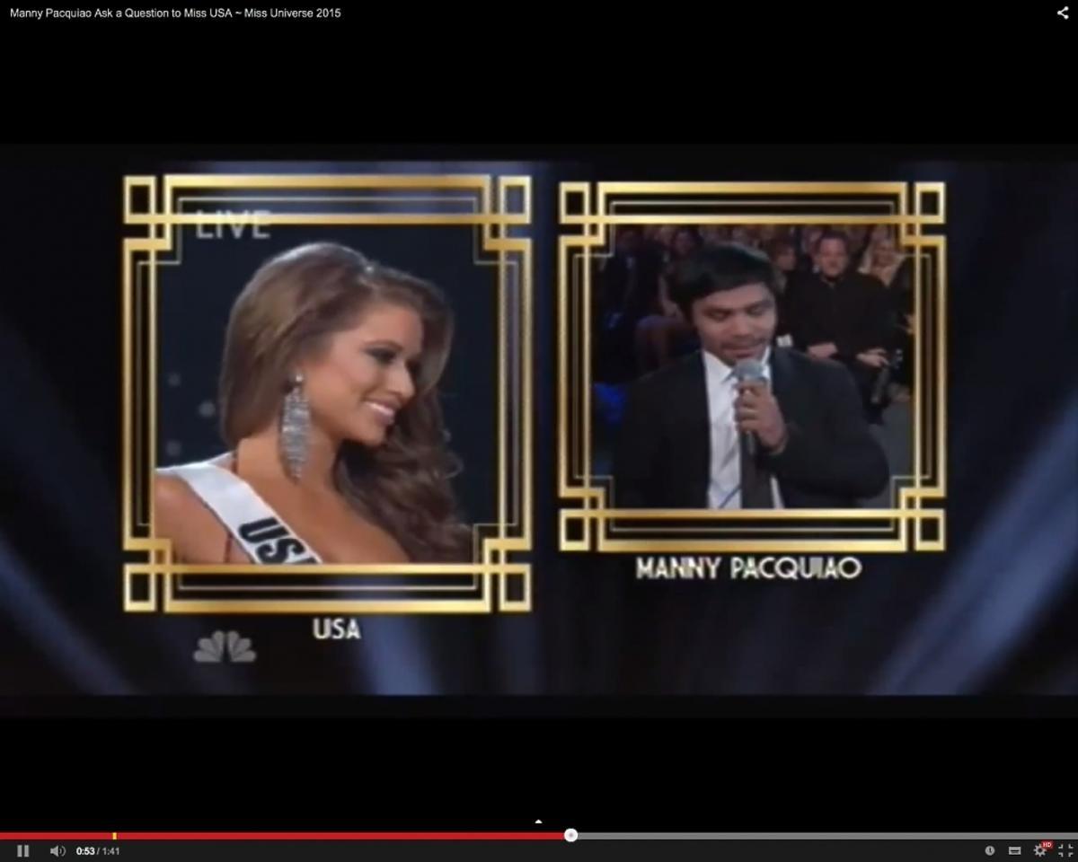 Nia Sanchez Miss USA odpowiada na pytanie o terroryzm na Miss Universe