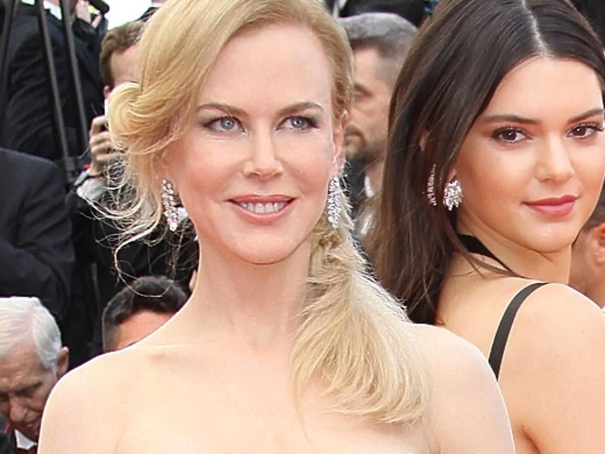Nicole Kidman i Kendall Jenner na premierze Grace of Monaco na Festiwalu w Cannes 2014