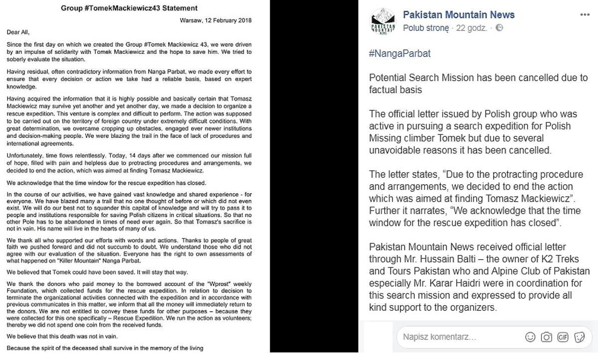 Nie będzie drugiej akcji ratunkowej na Nanga Parbat. Oświadczenie pakistańskich władz