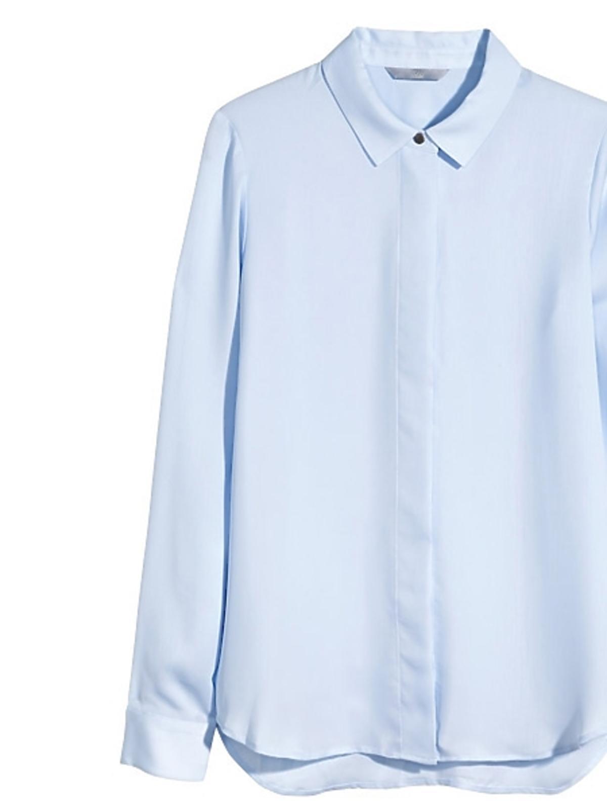 Niebieska koszula H&M, cena