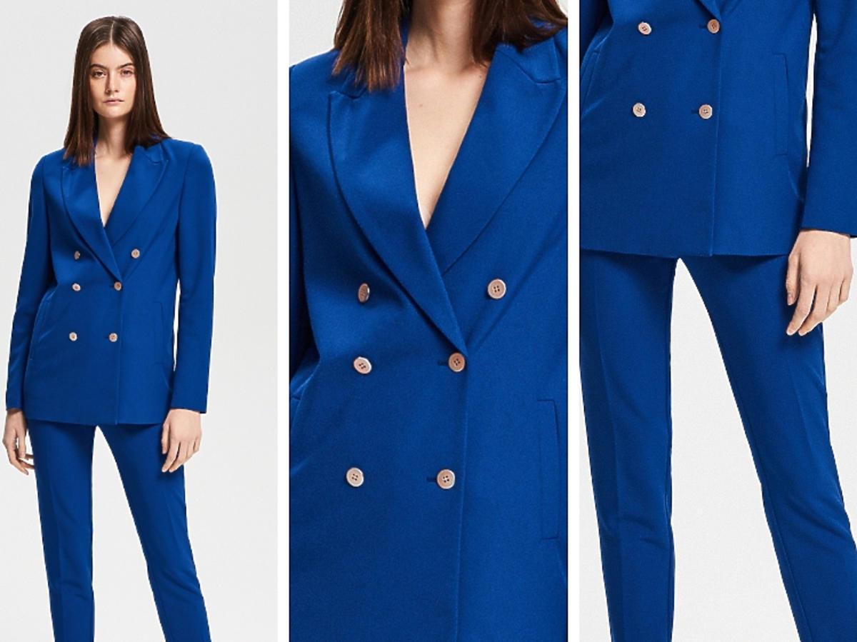 niebieski garnitur Reserved