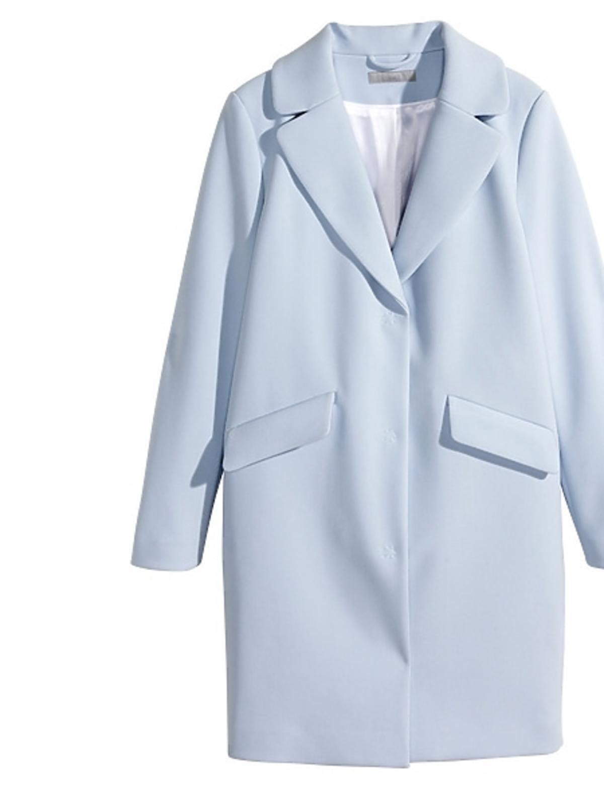Niebieski płaszcz H&M, cena