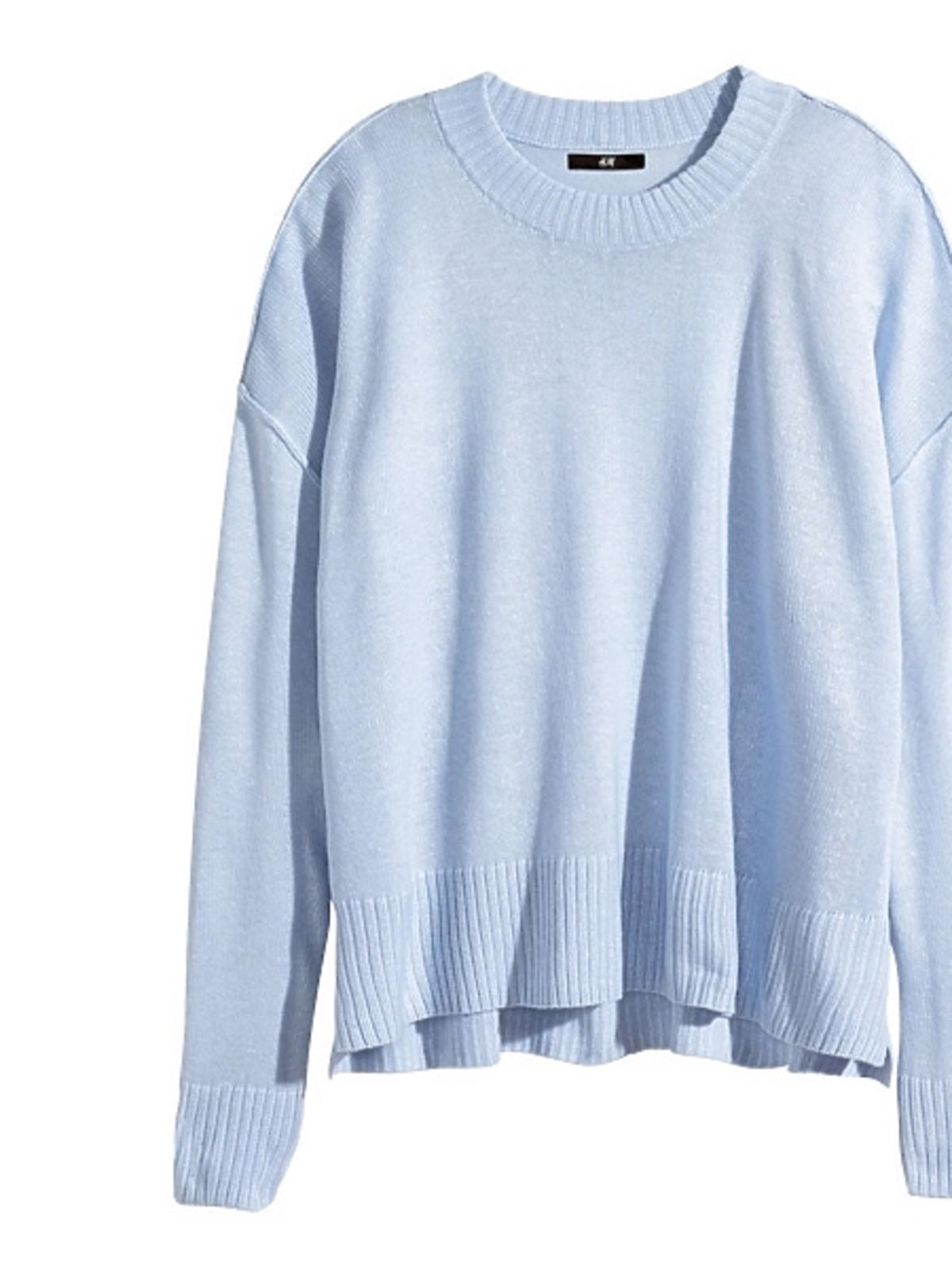 Niebieski sweter H&M, cena