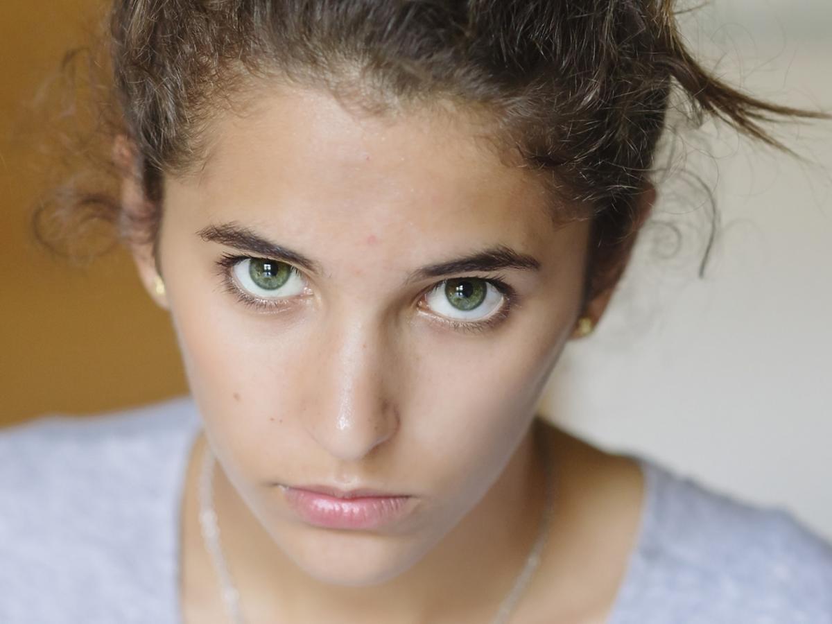 niezadowolona nastolatka