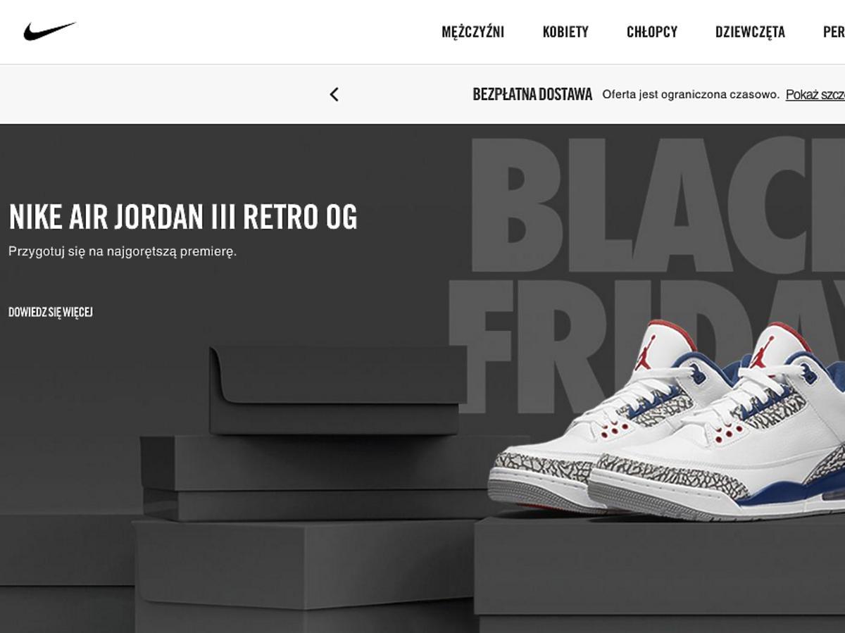 Nike  Black Friday 2016 Polska - promocje, obniżki, sklepy