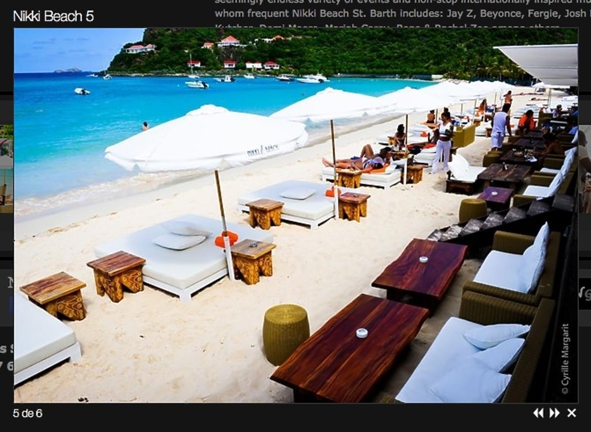 Nikki Beach St. Bar wakacje Agnieszki Szulim