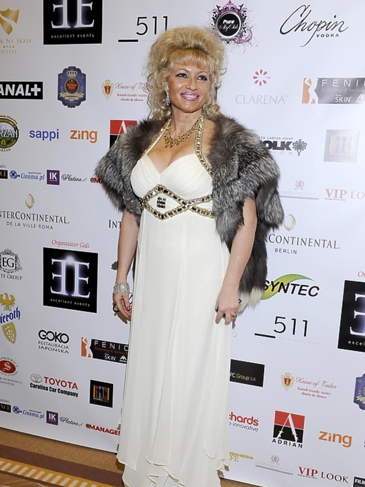 Nina Nowak na gali Luksusowa Marka Roku 2012