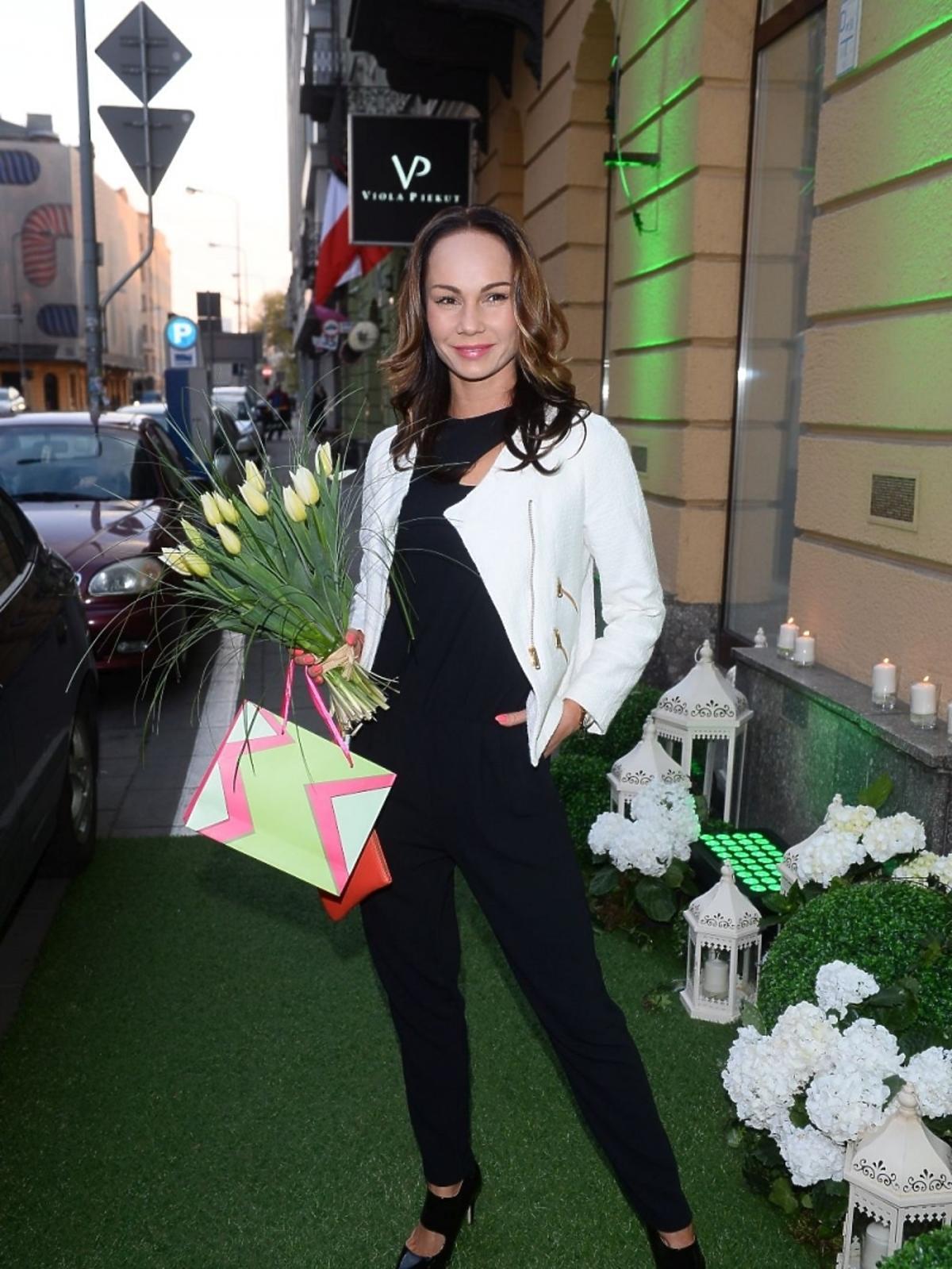 Nina Tyrka na otwarciu butiku Violi Piekut