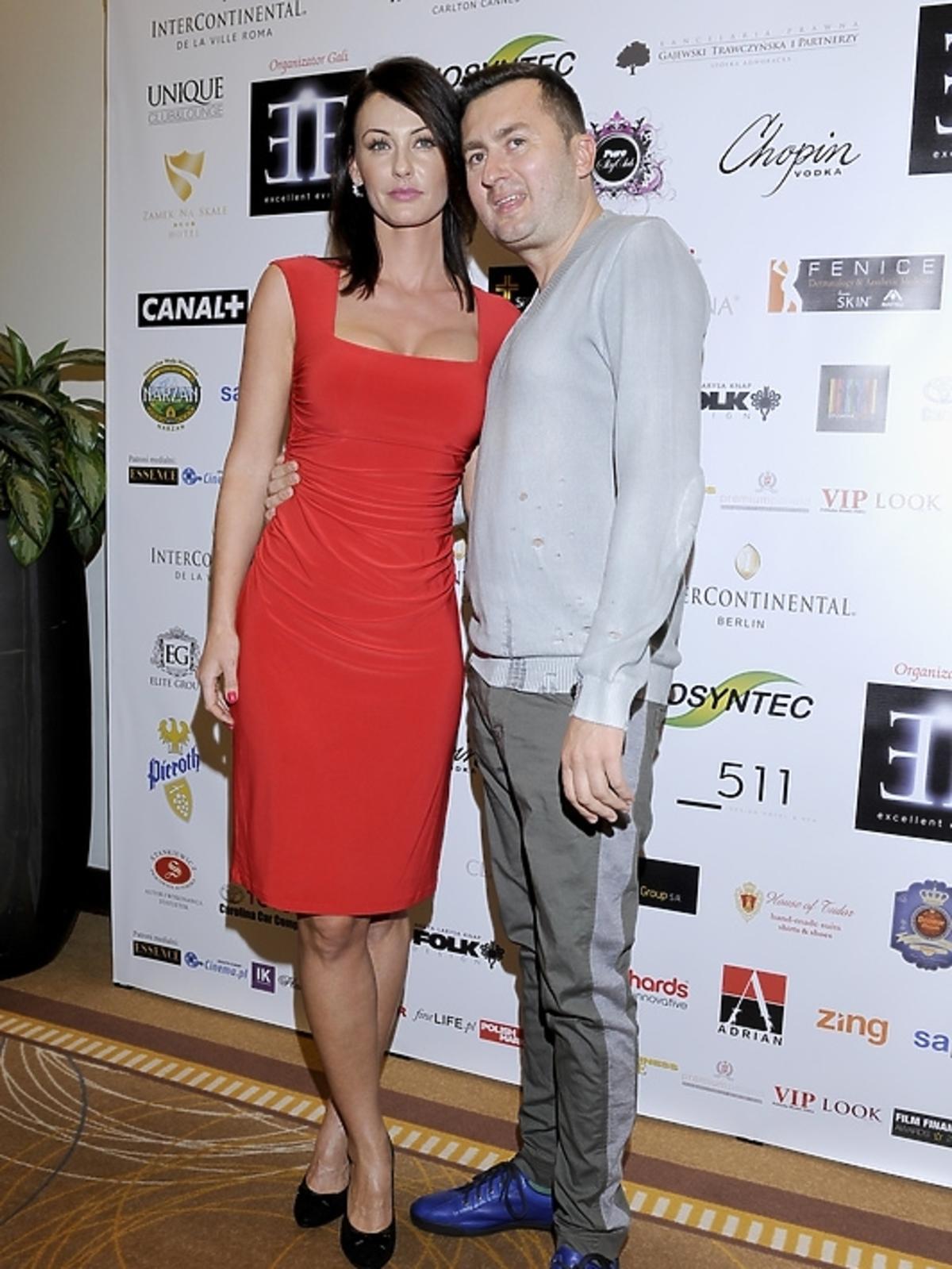 Norbi z żoną na gali Luksusowa Marka Roku 2012