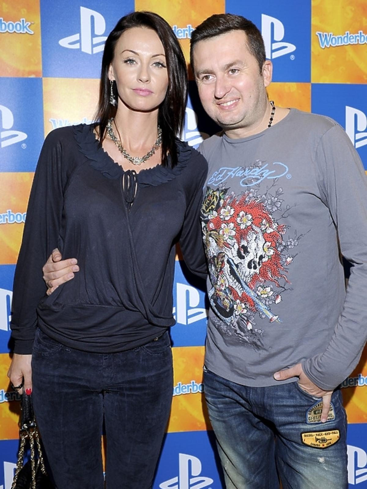 Norbi z żoną na premierze PlayStation 3 - Wonderbook: Księga Czarów