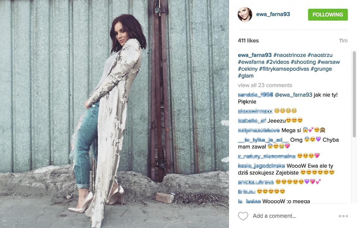 Nowa fryzura Ewy Farnej - zdjęcie z Instagrama