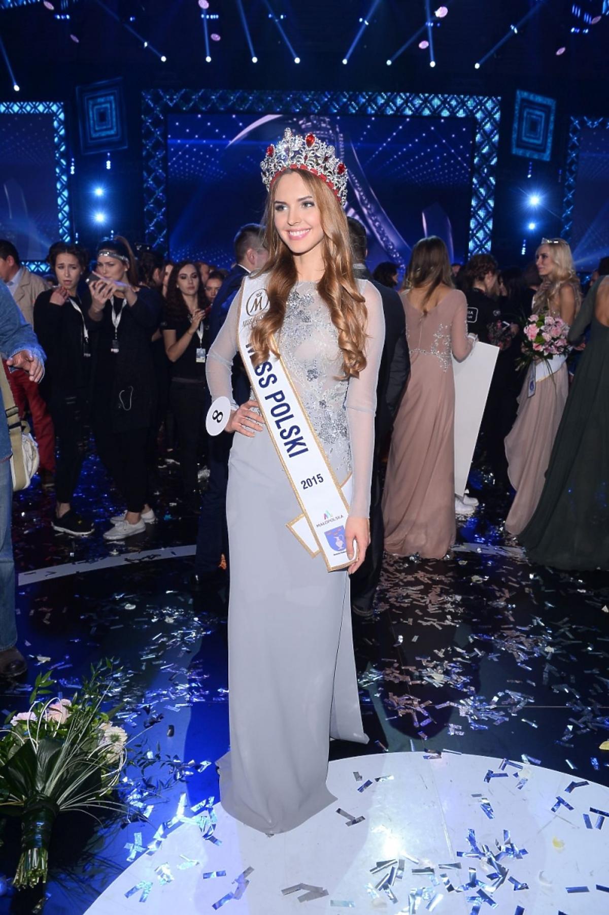 Nowa Miss Polski w popielatej sukni