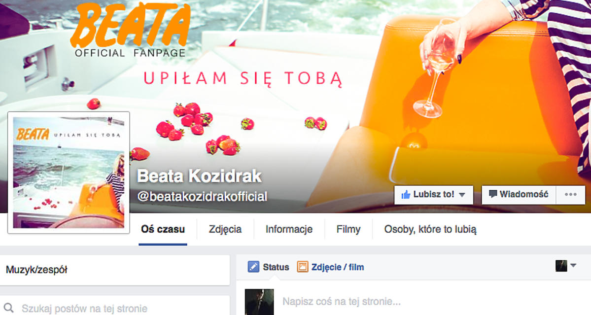 Nowy facebook Beaty Kozidrak