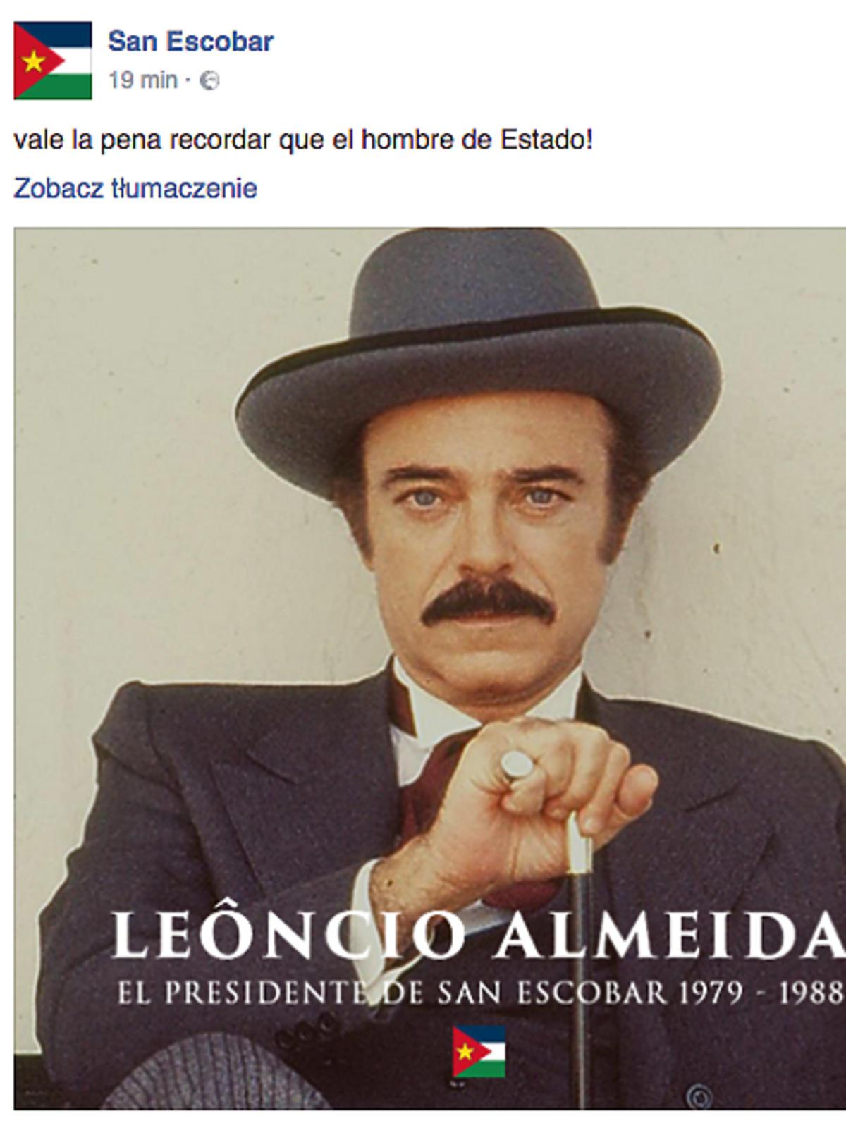 O co chodzi z San Escobar?