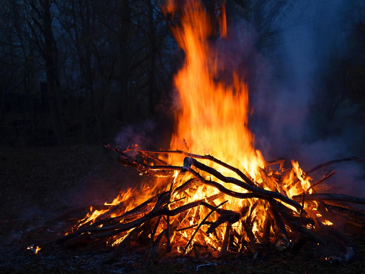 ognisko na działce