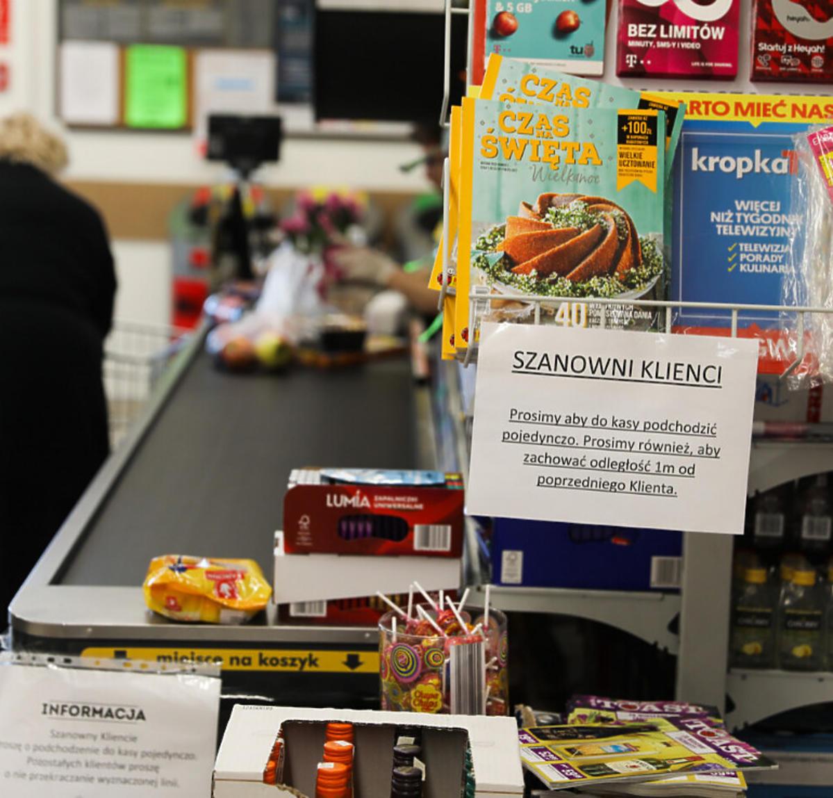 ograniczenia w sklepach spożywczych