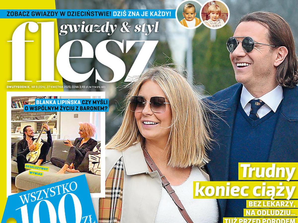 """Okładka magazynu """"Flesz"""" z Małgorzatą Rozenek-Majdan"""