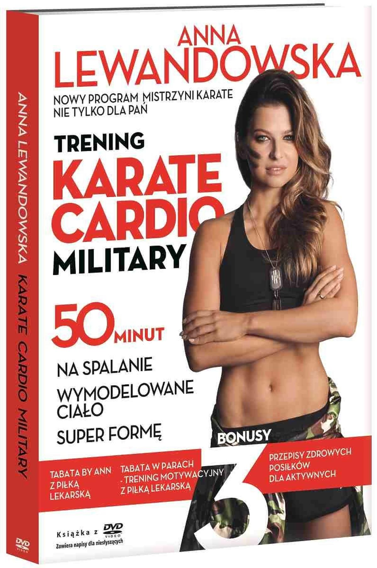 Okładka płyty Anny Lewandowskiej z ćwiczeniami Karate cardio military