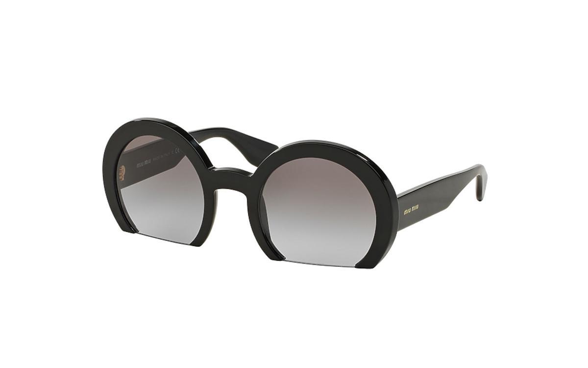 Okulary przeciwsłoneczne ze ściętymi szkłami u dołu
