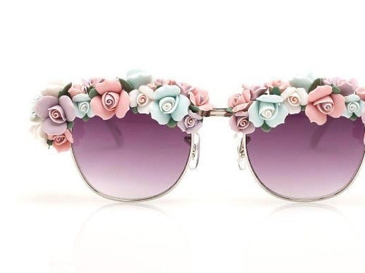 Okulary z kwiatkami