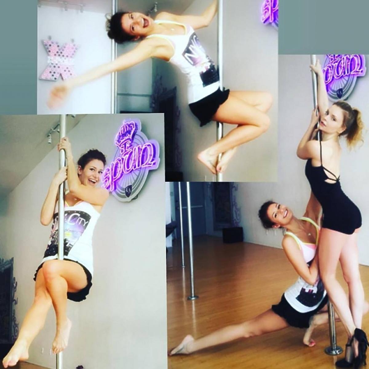Ola Gintrowska ćwiczy taniec na rurze
